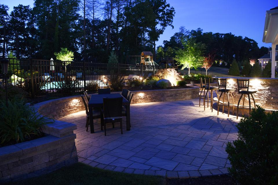 Patio ideas for landscape lighting in Glastonbury CT