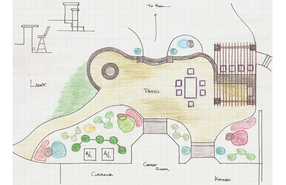 The Plans For A Patio With An Outdoor Kitchen And Fire Pit With A Beautiful  Patio