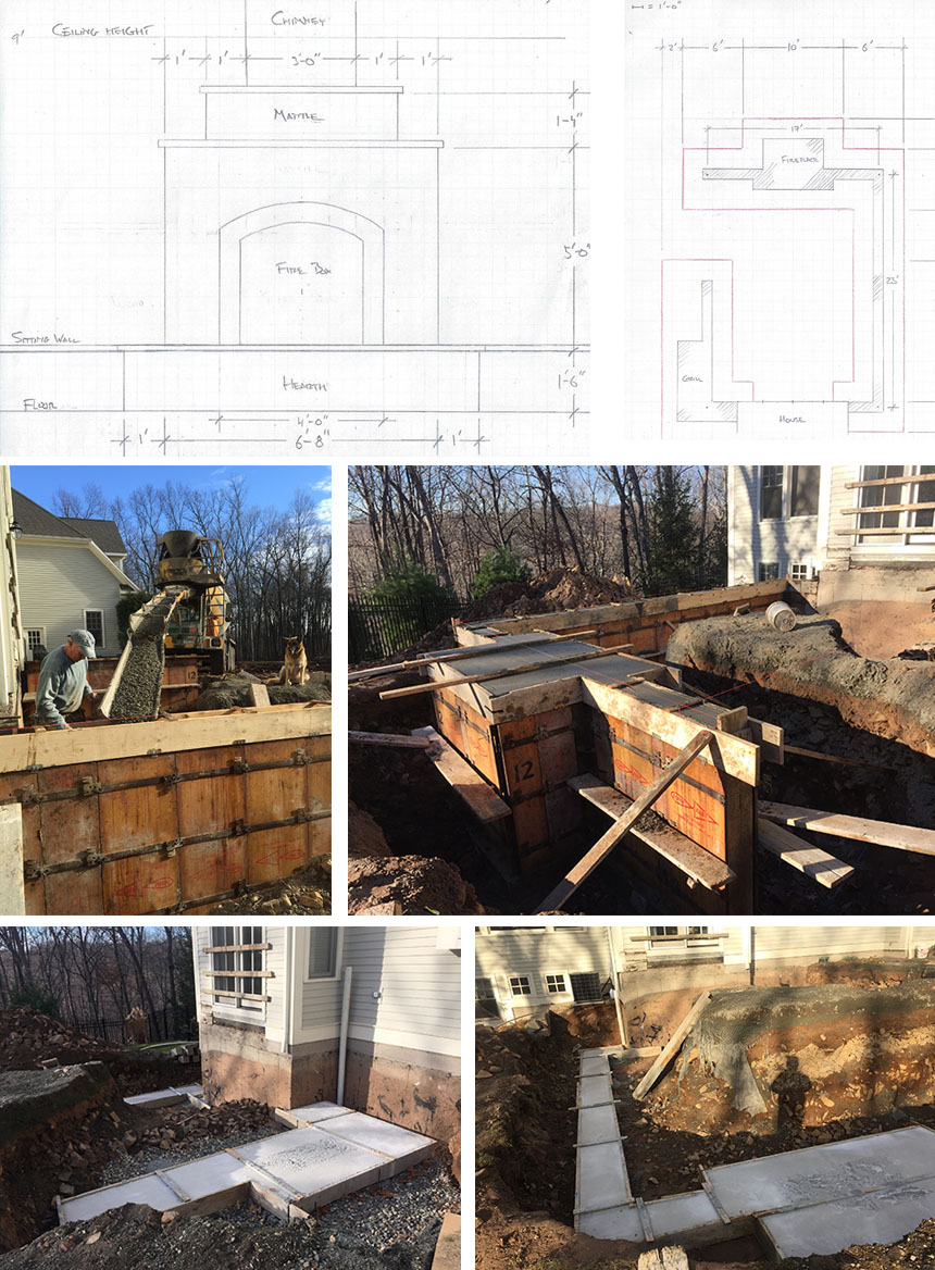 Installation - outdoor fireplace in Farmington CT
