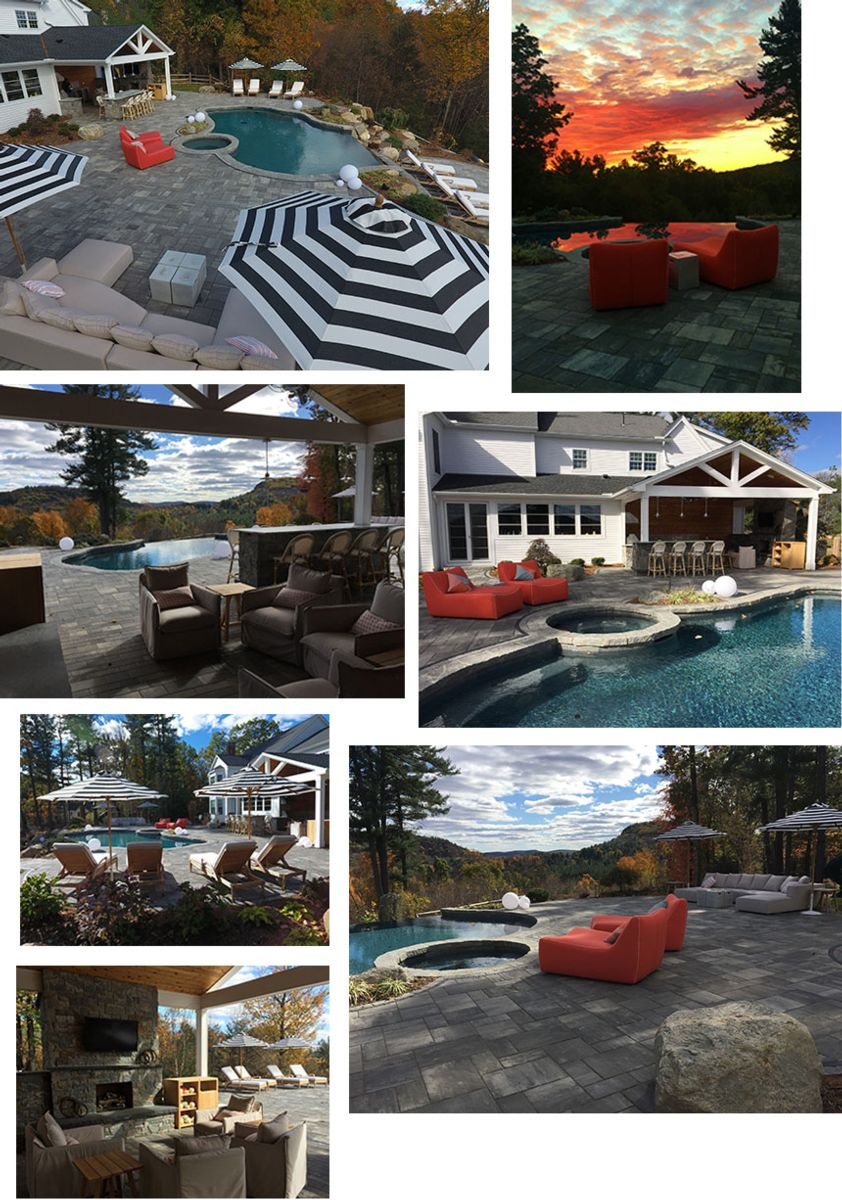 Pool designs and outdoor living in Simsbury CT
